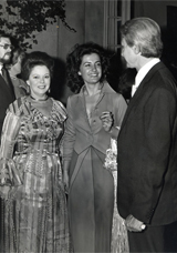 Stati Uniti Washington Ambasciata Italiana con Shirley Temple